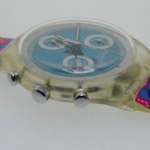 Swatch Accessories - Vintage 1993 Chrono Swatch Watch Wild Card SCK100
